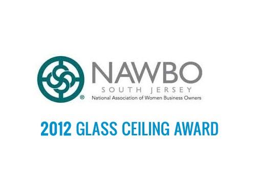 Image of NAWBO logo | logo of National Association of Women Business Owners Glass Ceiling Award recognizing Lynn Pechinski
