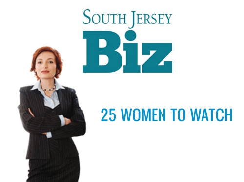 "Image of Woman on the magazine cover South Jersey Biz | Magazine issue selecting Lynn Pechinski ""25 Women to Watch"""