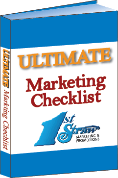Image of a 3D book cover with the title Ultimate Marketing Checklist | Ultimate Marketing Checklist ebook of blueprint for marketing, business tips