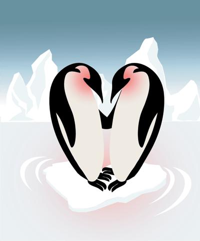 Image of 2 Penguins Holding Hands | Symbol for the Google Penguin Algorithm best practices for online marketing