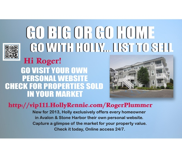 Image of a postcard with a large home | Direct Mail to Custom Landing Pages for Real-time Lead Generation