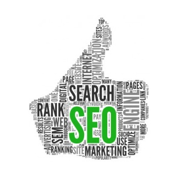 Image of Thumbs up Hand with green SEO letters | Local Search Engine Optimization Online Marketing