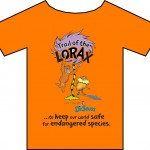 Image of Orange Tee Shirt with Cartoon Design | Licensed imprinted tee
