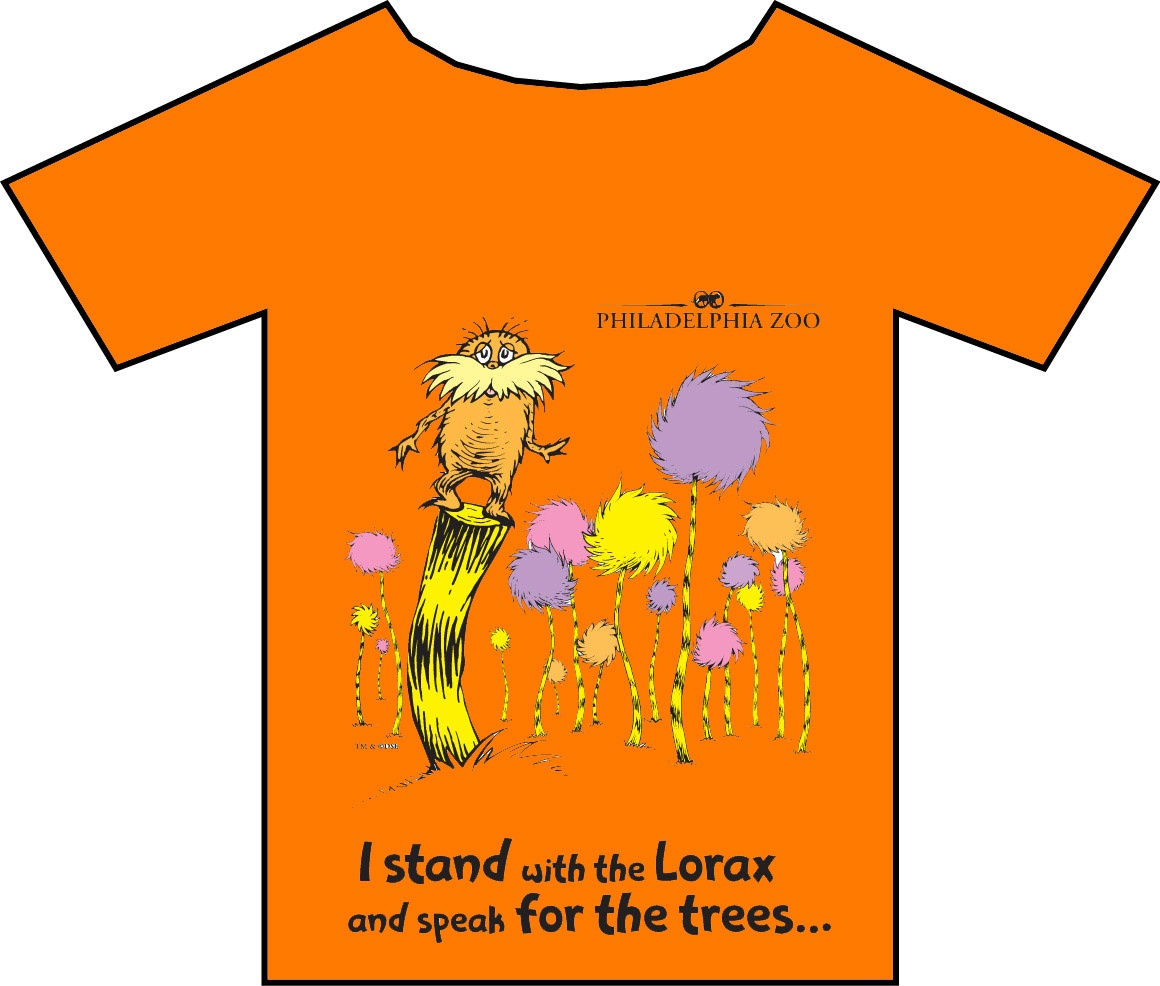 Image of Orange Tee Shirt with Cartoon Design | Custom imprinted tee shirts
