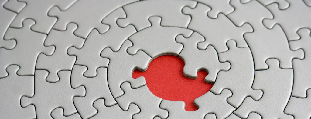 Marketing Consulting Image of a puzzle with one missing piece | symbolizes marketing consultant providing lead generation, brand awareness, marketing strategies and tactics
