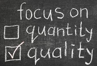 quality vs. quantity checklist