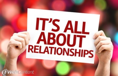 """""""Its All About Relationships"""" sign"""