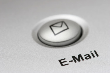 e-mail button on computer