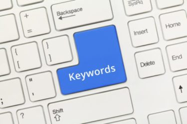 Keyboard with keywords key