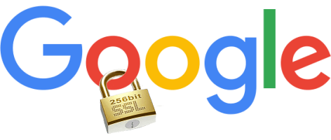 Google logo with padlock